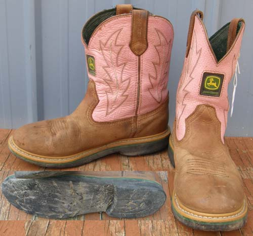 Dan Post John Deere Western Wellington Boots Pink Cowgirl Western Boots Childs Youth 4M Cowboy Boots
