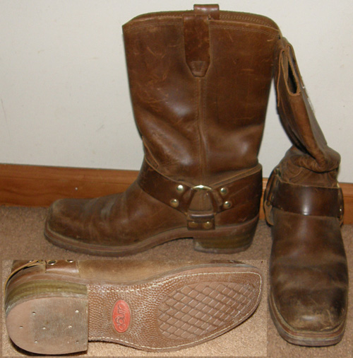 Dingo Molly Harness Boots Ladies Western Boots Distressed Brown Cowboy Boots 8M Snoot Toe