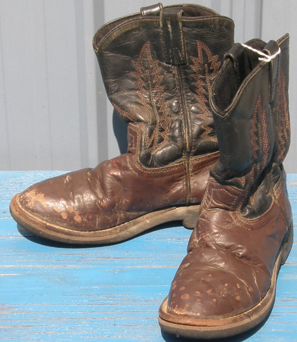Smoky Mountain Brown Ostrich Look Cowboy Western Boots Childs 3 Cowboy Boots
