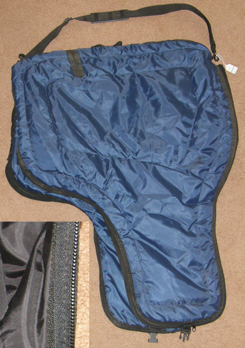 Quilted Nylon Western Saddle Carrier Saddle Case Saddle Cover Saddle Bag Navy Blue