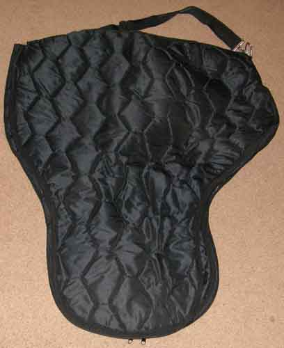 Quilted Nylon Western Saddle Carrier Saddle Case Saddle Cover Saddle Bag Black