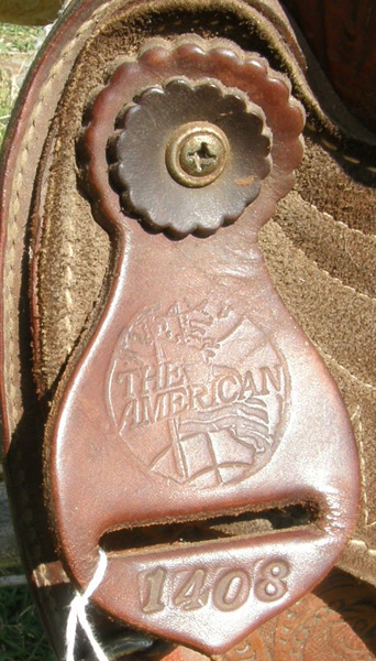 "American Saddlery The American 15 1/2"" Deep Seat Tooled Leather Western Saddle Roping Saddle Barrel Saddle Brown"
