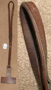 Crosby Leather Crupper with Leather Block Horse Pony or Mule