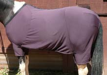 "68"" - 70"" CF Iron Horse Stay-Put Blanket Fleece Turnout Blanket Fleece Blanket Liner Full Body Cooler Horse Plum"