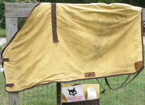 "70"" OF Fox Mountain Lined Canvas Turnout Blanket Cotton Duck Canvas Blanket"