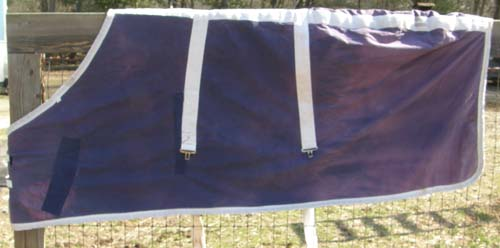 "72"" - 74"" OF Fleece Lined Stable Blanket Horse Purple/White"