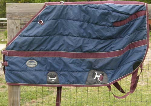 "60"" OF WeatherBeeta Channel Quilt 420D Quilted Stable Blanket Turnout Blanket Pony Horse Foal Navy Blue"