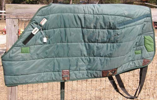 "66"" CF Schneiders Duratech Adjusta Fit Quilted Stable Blanket Adjust A Fit Quilted Turnout Blanket Pony Horse Green"