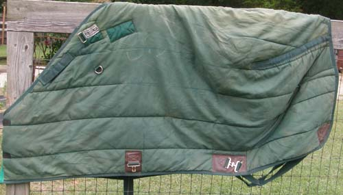 "66"" - 68"" OF Schneiders Adjusta Fit Quilted Stable Blanket Adjust A Fit Quilted Turnout Blanket Pony Horse Green"