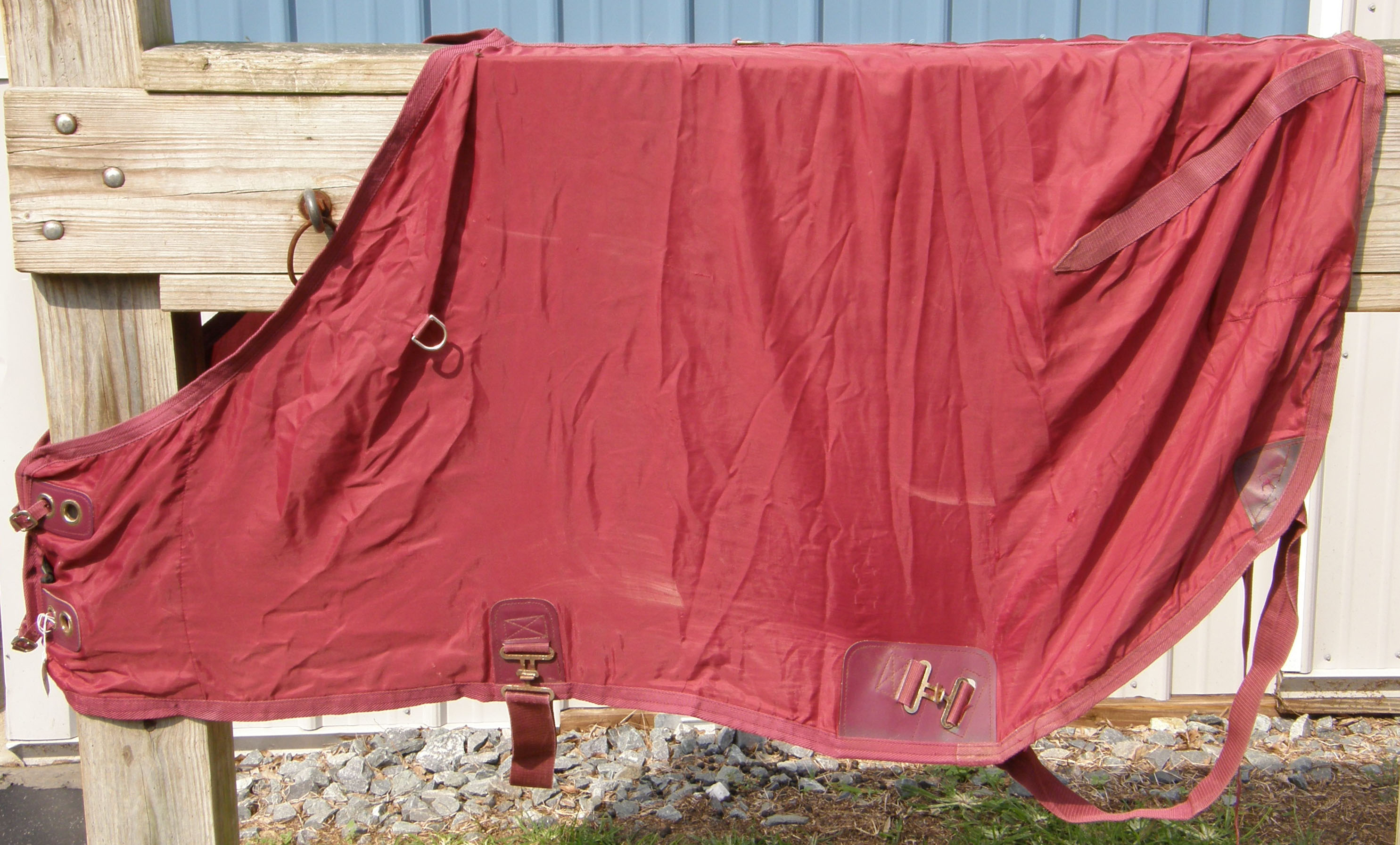 "64"" OF Nylon Turnout Style Stable Sheet Pony Small Horse Burgundy"
