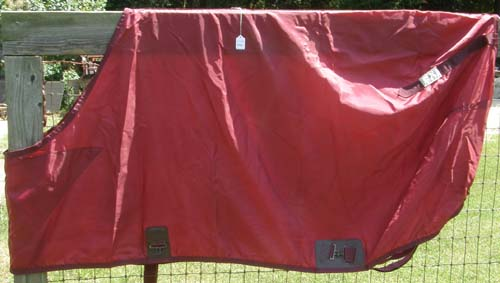 "74"" CF Schneiders Nylon Sheet Closed Front Stable Sheet Turnout Sheet Horse Burgundy"