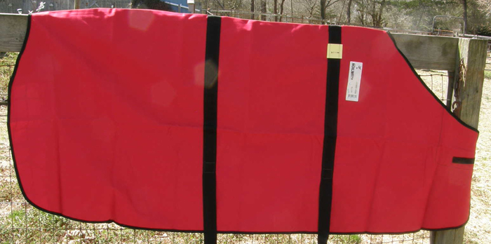 "Action Co 74"" OF Cotton Duck Stable Sheet Red/Black"