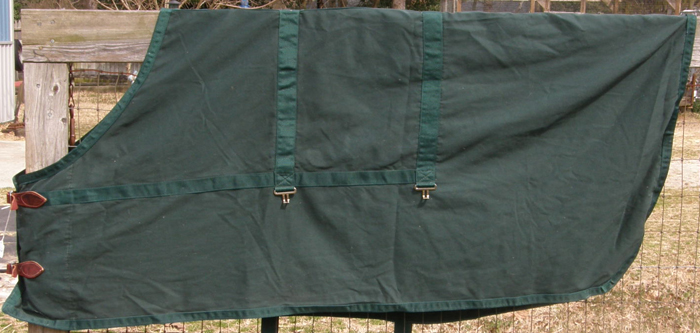 "74"" OF Cotton Stable Sheet Hunter Green"