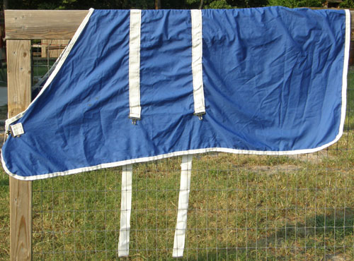 "68"" OF Lightweight Stable Sheet Horse Blue/White"