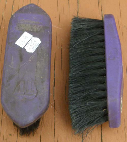 Tail Tamers Soft Touch Soft Horsehair Brush Small Soft Dandy Brush Horse Hair Grooming Brush