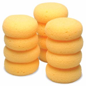 Mini Tack Sponges Round Synthetic Tack Cleaning Sponges