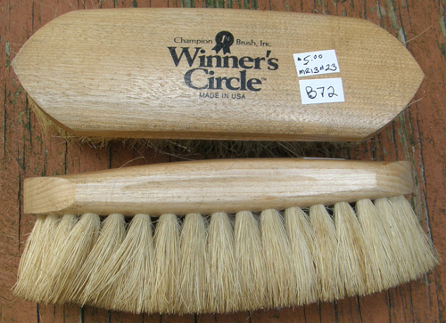 Winners Circle Natural Fiber Dandy Brush Soft Tampico Brush Horse Grooming Brush