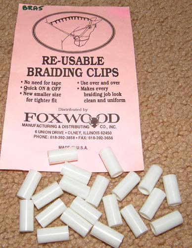 Re-Usable Braiding Clips Braiding Tubes Bandettes Braid Tubes White