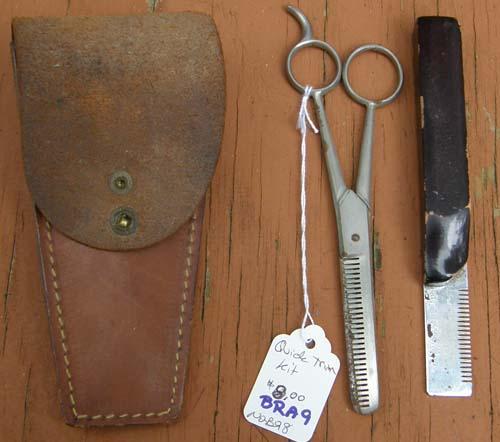 Vintage Quick Trim Kit Mane Thinning Kit Braiding Kit with Leather Pouch