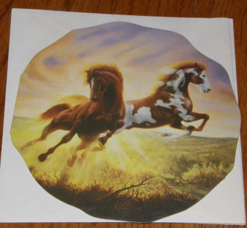 Birthday Card Leanin' Tree Select Greeting Card Paint Horse Pinto Mustang Chuck DeHaan