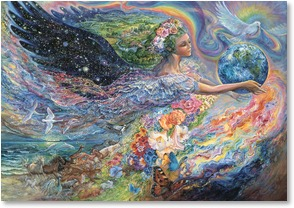 Birthday Card Leanin' Tree Greeting Card Earth Angel Josephine Wall