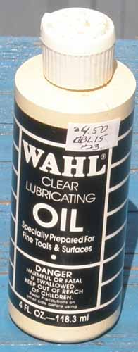 Wahl Clipper Clear Lubricating Oil 4 oz Tool Oil