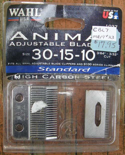 Wahl Adjustable Clipper Blades 30-15-10 Animal Clipper Blades 1037