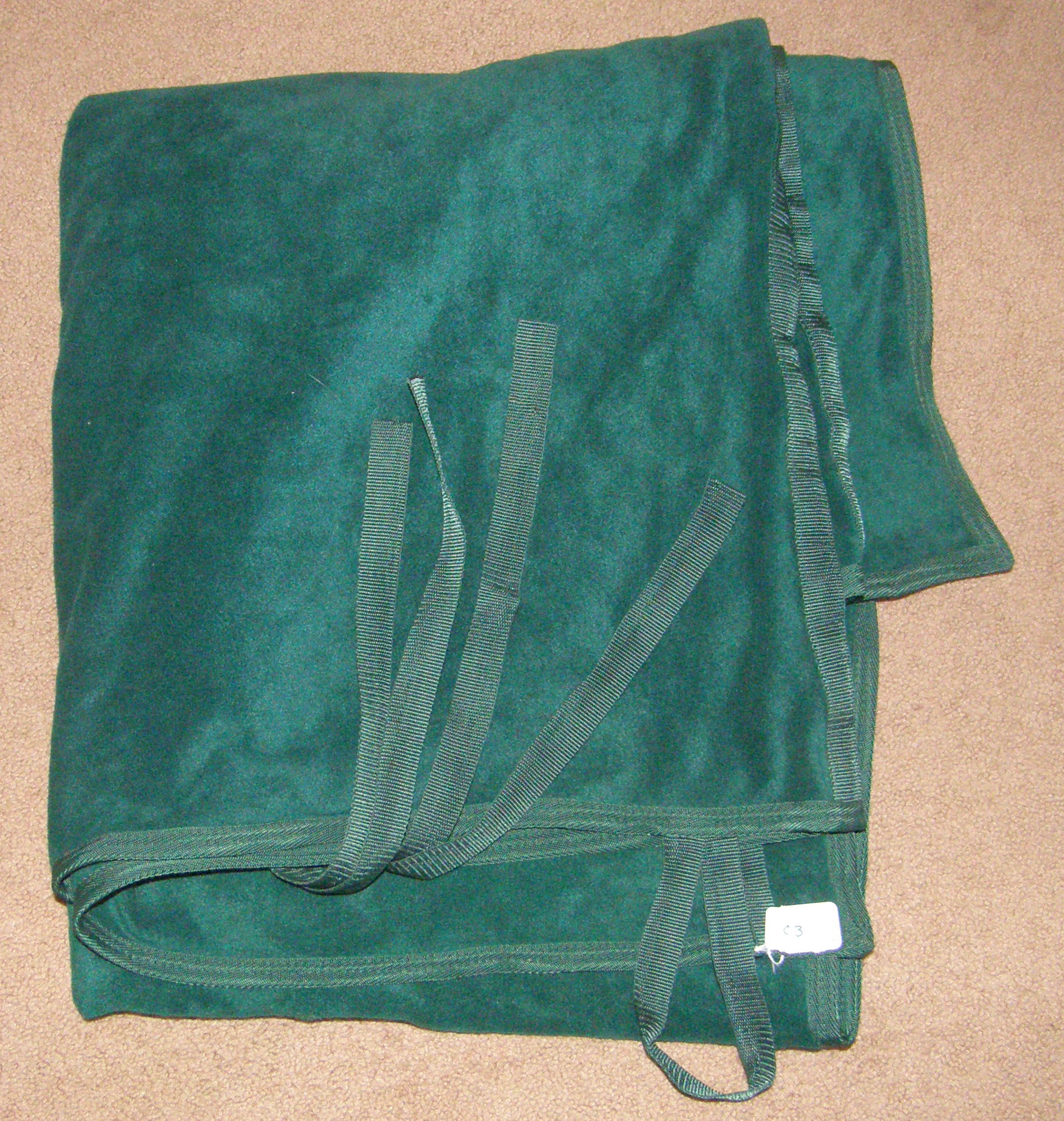 Plush Fleece Cooler Show Cooler Horse Hunter Green
