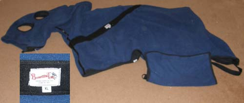 Beautiful Tails Snuggy Fully Lined Polar Fleece Ringside Blanket Polartec Fleece Show Cooler Polarfleece Contour Cooler with Neck Cover XL Horse Navy Blue