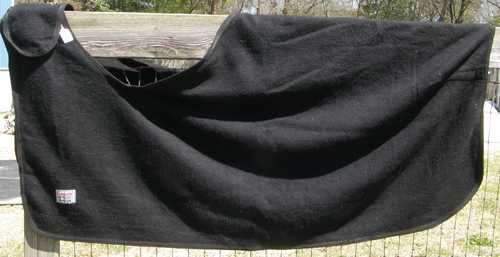 Schneiders Dura-Tech Wool Blend Quarter Sheet Exercise Sheet Exercise Rug Horse Black 61 XL Horse