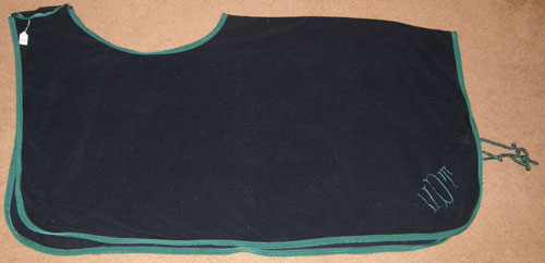 WeatherBeeta Fleece Quarter Sheet Exercise Sheet Horse X-Long Navy Blue/Hunter Green