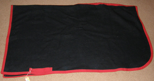 Wool Blend Exercise Sheet Quarter Sheet Exercise Rug Horse Navy Blue/Red