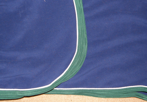 SmartPak Polar Fleece Quarter Sheet Exercise Sheet Exercise Rug Horse Navy Blue/Hunter Green/White
