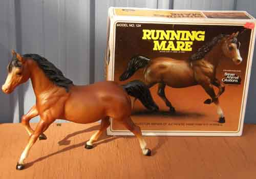 Breyer #124 Bay Running Mare with Old Cardboard Picture Box