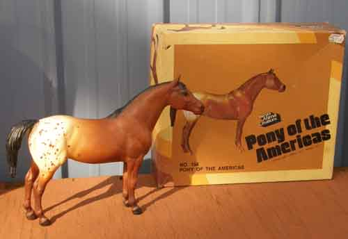 Breyer #154 Bay Blanket App POA Bay Appaloosa Pony of the Americas Old Cardboard Picture Box
