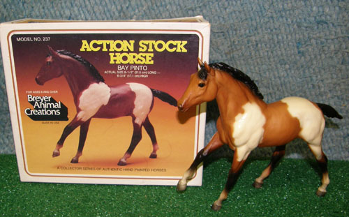 Breyer #237 Bay Pinto Action Stock Horse Foal ASHF Vintage Old Cardboard Picture Box