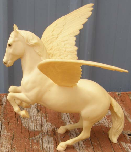 Breyer #209 Pegasus Classic Rearing Lippizan with Removeable Wings