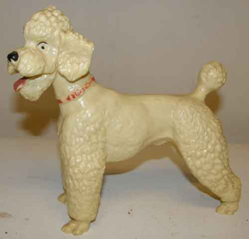 Breyer #68 White Poodle Red Collar Glossy