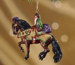 Breyer #700113 Father Christmas Holiday Ornament 2003 Bay Andalusian Stablemate