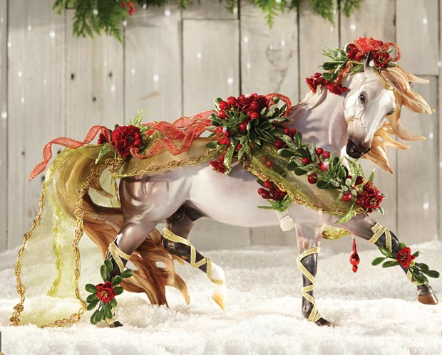 Breyer #700117 Bayberry & Roses Shaded Grey Esprit Christmas Horse Holiday Horse 2014
