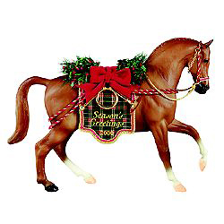 Breyer #700400 Holiday Hunt Christmas Horse Holiday Horse 2000 Chestnut Roemer