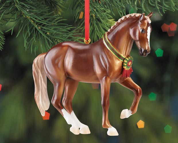 Breyer #700513 Chestnut Warmblood Horse Beautiful Breeds Christmas Ornament Holiday Horse Ornament 2013