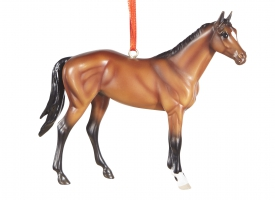 Breyer #700516 Beautiful Breeds Thoroughbred Bay TB Horse Christmas Ornament Holiday Horse Ornament 2015