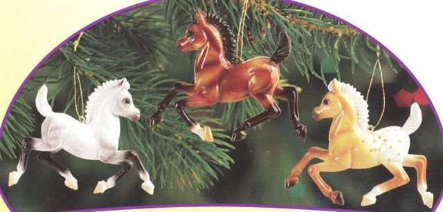 Breyer #700656 Merry Fillies Ornaments Grey Bay Foal Christmas Ornament Holiday Horse Ornament 2012