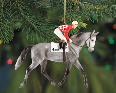 Breyer #700663 Native Dancer Dappled Grey Thoroughbred Racehorse TB Race Horse Christmas Ornament Holiday Horse Ornament 2013