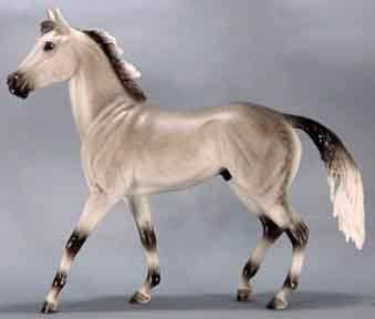 #410100 Silver Lining Penneys SR 2000 Porcelain Breyer Horse Light Dappled Grey Chesterfield TB On Base