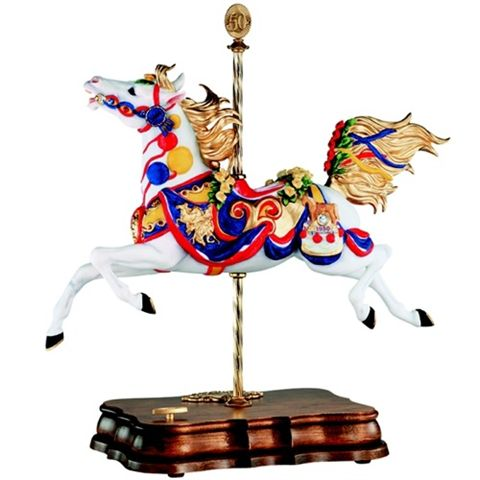 #79100 Breyer Porcelain Carousel Horse 50th Anniversary 2000 Music Box