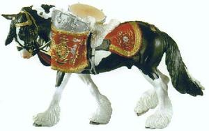 #79199 Breyer Porcelain Drum Horse Black Pinto Household Calvary Drum Horse Othello