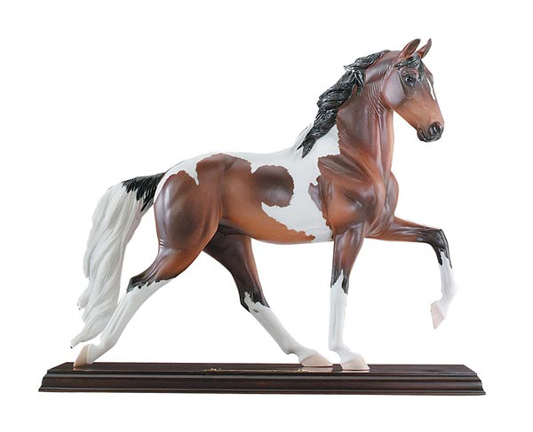 #8146 Dixieland Grand Porcelain Breyer Horse Bay Pinto Plantation Walking Horse with Base