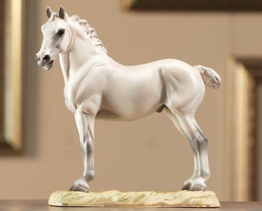 Breyer #8263 A King's Mount Grey Percheron Draft Horse Inspired by Leonardo Da Vinci's Sketch of a Horse Equine Art Collection Series
